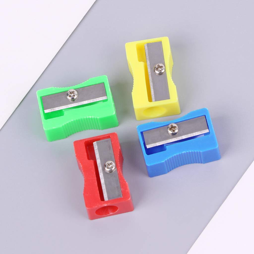 Autone 10PCS plastica foro singolo hand-held temperino per matita scuola