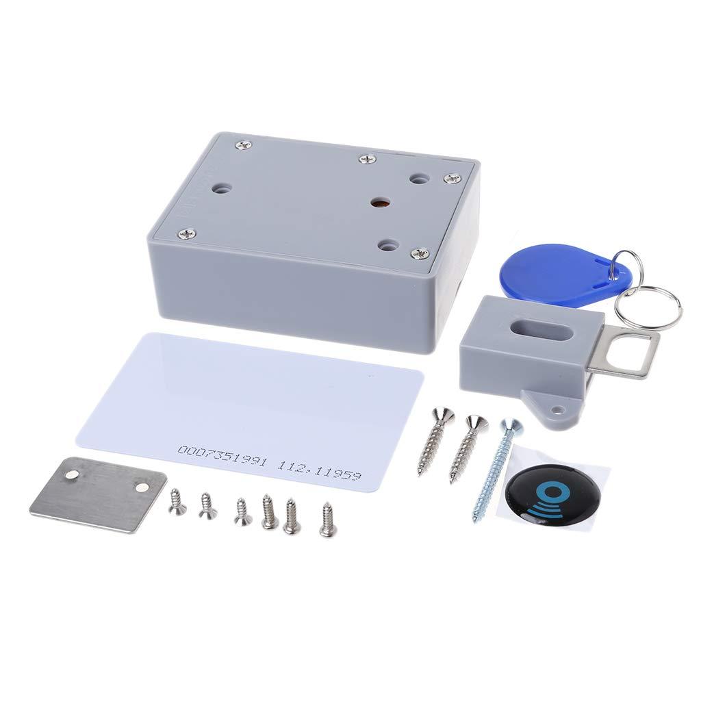 RingBuu New, IC Card Digital RFID Sensor Card Drawer Electronic Cabinet Lock, Drawer Locker Lock IDIY Electronic Cabinet Hidden Smart Locks