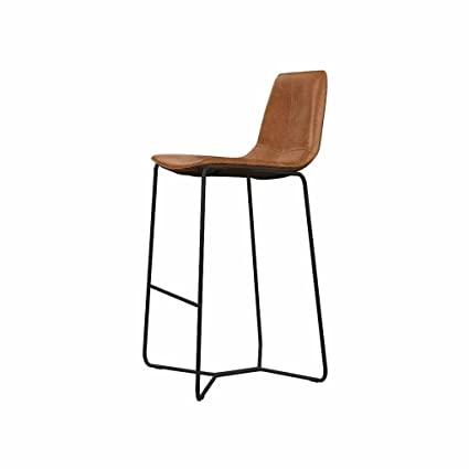 Brilliant Amazon Com Lightyears Bar Stool Metal Leather Kitchen Beatyapartments Chair Design Images Beatyapartmentscom