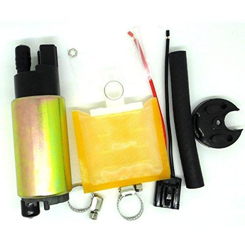 (Conpus Fuel Pump + Full Install Kit Oil Tube+Hose Clamps+Strainer+Rubber Cap for Honda L4 1.5L 1995 Honda Civic Del Sol A1067)