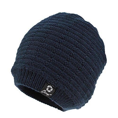 Azul Hombres Azul profundo CJC Tres Sombrero Color Colores Simple Oscuro 85nwqYg4f