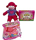 3 pc Sock Monkey and Candy Bundle includes