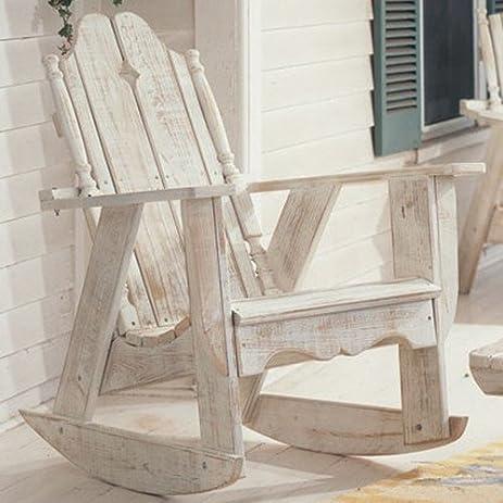 Uwharrie Chair N112 Nantucket Rocker   White