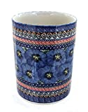 Polish Pottery Blue Art Utensil Jar