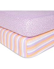 Burt's Bees Baby - Fitted Crib Sheet, Girls & Unisex 100% Organic Cotton Crib Sheet for Standard Crib and Toddler Mattresses