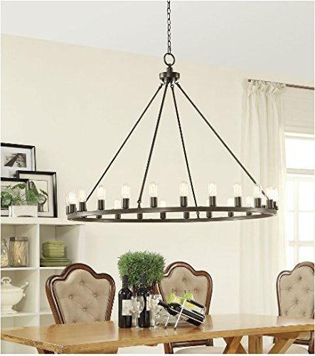 Hemsworth Metal Oil Rubbed Bronze 24-light - Number Florida Mall
