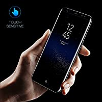 Galaxy S8 Screen Protector, AUKUK 3D Tempered Glass Screen Protector Full Curved for Samsung S8 Edge, HD Clear, High Touch Sensitivity, 9H Hardness Anti-Scratch, Anti-Fingerprint, Bubble-Free by AUKUK