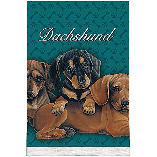 Kitchen Towel--Dog Design--Dachshund Puppies--Printed in the USA--22'' by 32'' by FIDDLERS ELBOW/TOY WORKS