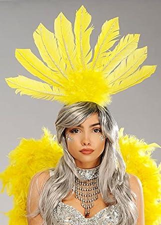 Boland Rio Carnaval corista de Plumas Amarillas Casco