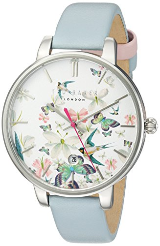 Ted Baker Women's Kate Stainless Steel Japanese-Quartz Watch with Leather Strap, Blue, 14 (Model: 10031551)