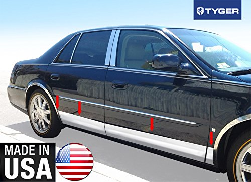 Cadillac Deville Auto Body (Made In USA! 00-15 Cadillac Deville/DTS 4 Door Rocker Panel Trim Body Side Moulding 6
