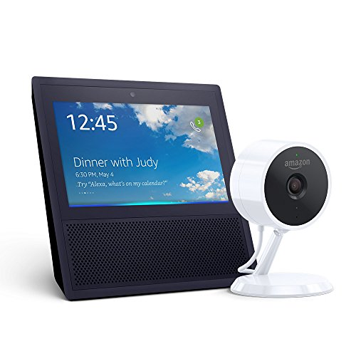 Echo Show – Black + Amazon Cloud Cam Indoor Security Camera Bundle