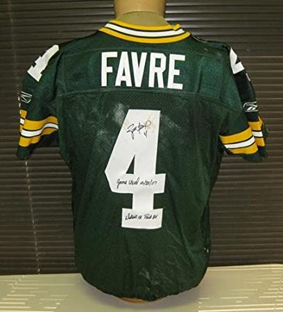b513f13a04c Brett Favre Signed Game-Used Packers Jersey Unwashed - Autographed NFL  Jerseys