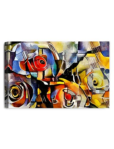 IPIC - A bouquet of beautiful flowers, oil painting in Picasso style. Giclee Print on Canvas Wall Art for Home Decor. 30x20x1.5