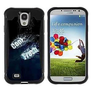 iArmor Hybrid Anti-Shock Defend Case / Cool Fresh Typography / Samsung Galaxy S4