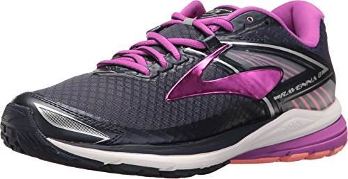 Brooks Women's Ravenna 8 Peacoat/Purple Cactus Flower/Fusion Coral 10 B US