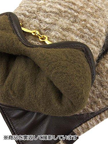 婦人防寒手袋 杢調柄 羊革 13174