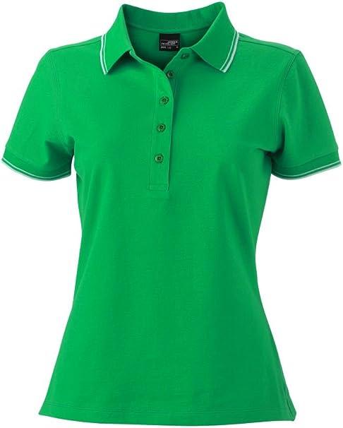 2Store24 Camiseta Polo en piqué elástico Camiseta Polo Mujer ...
