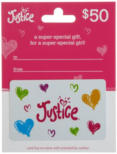 Justice Gift Card $50 from Justice