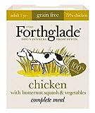 Forthglade 100% Natural Dog Food Grain Free Complete Wet Dog Food Variety Pack 395g (12 Pack)