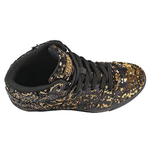 Gotta Flurt Hip Hop Ii Snörning 3/4 Top High Top Sneaker Guld / Svart
