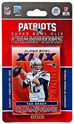 Champions Football Card - NFL 2015 Panini Football Cards Patriots Super Bowl 49 Champions Team Set