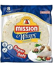 "Mission Foods 10"" Super Soft Original 8 Wraps,"
