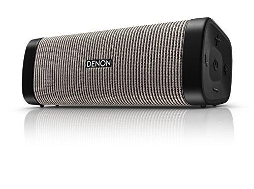 Denon Dsb 250Bt Envaya Portable Bluetooth Speaker   Black, Grey Stripe