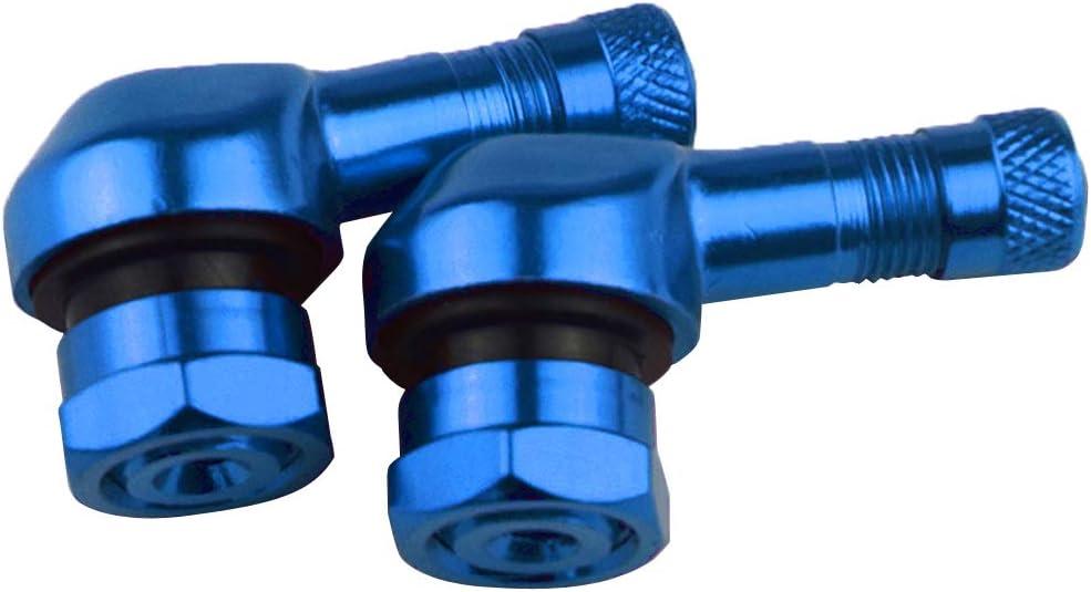 Lila perfk 2 St/ück Ventilschaft 90 Grad Winkel Motorrad-Rennreifen Ersatz Reifenventilen Universal Reifenventil Metallventil Felgenventil