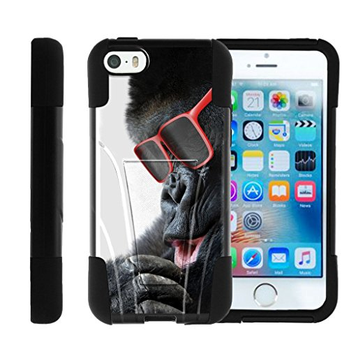 Apple iPhone SE case| iPhone 5 Case| iPhone 5s Cover, Fusion STRIKE Hybrid Dual Layer Case with Kickstand Cute Animal Collection, Miniturtle - Gorilla with - Accessorize Case Sunglasses