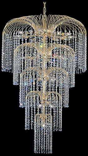 Classic Lighting 1061 G CP Sprays, Crystal, Chandelier, 24k Gold Plate