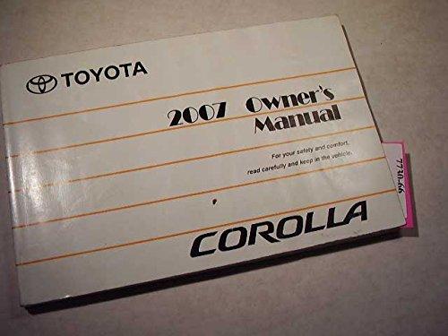 2007 Toyota Corolla Owners Manual