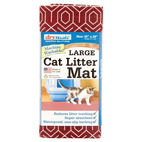 Drymate Surface Solutions Marsala Hex Large Cat Litter Mat