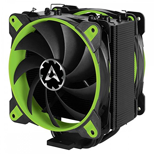 ARCTIC Freezer 33 eSports Edition - Tower CPU Cooler with Push-Pull Configuration I Silent 3-Phase-Motor and wide range of regulation 200 to 1800 RPM I Includes 2 low noise 120 mm fans - Green (Motor Silent)