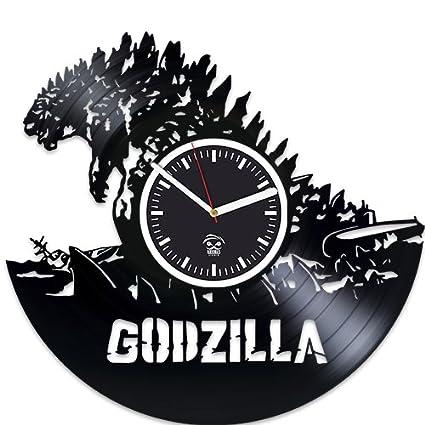 Valentines Day Gift For Boyfriend Godzilla Vinyl Wall Clock Movies Record