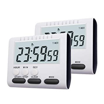 Trjyr Timers - Alarma magnética grande LCD digital cuenta ...