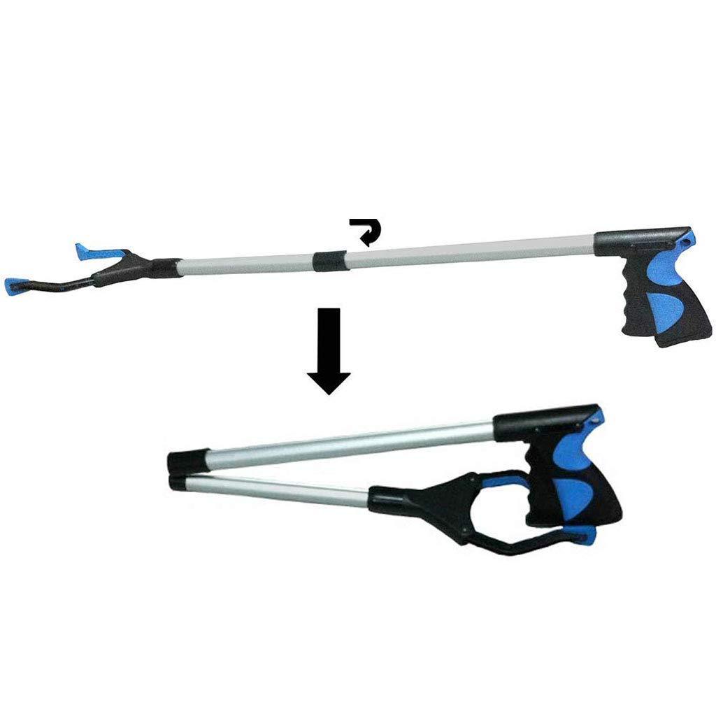 Reacher Grabber Tool,32'' Heavy Duty Mobility Grip Hand Aid, Light Bulb Remover, Long Reach Handled Trash Litter Picker, Garbage Garden Pickup,Nabber Gripper Extender Arm Handle (Blue) by GYqH
