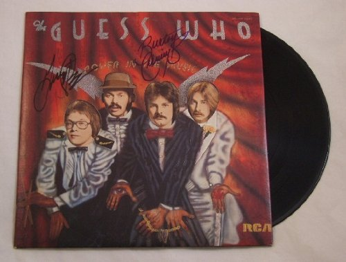 The Guess Who Power in the Music Burton Cummings Garry Peterson Signed Autographed Lp Record Album with Vinyl - Cumming In Women