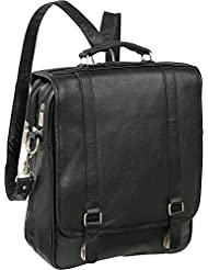 AmeriLeather Leather Laptop Backpack Briefcase