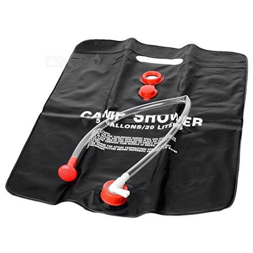 Moon Lence Outdoor Portable 5-Gallon Solar Shower Bag for Camping