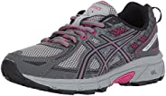 ASICS Women's Gel-Venture 6 Running-Shoes,Carbon/Black/Pink Peacock,7 Mediu