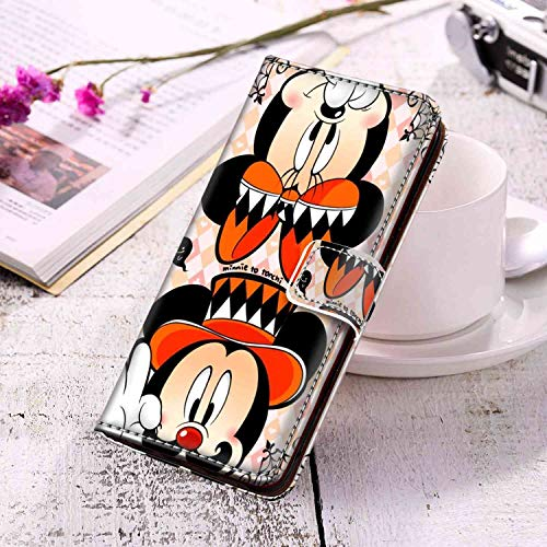 DISNEY COLLECTION Wallet Case for Samsung Galaxy S10 Wreck-It Ralph Protective PU Leather Flip Cover with Credit Card Slots Series Magnetic Magnetic -