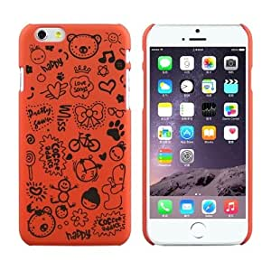 Magic Girl Pattern Frosted Protective Case for iPhone 6 Plus(Orange)