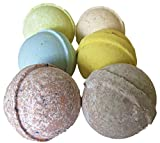 Bath Bombs, w/FREE Lip Balm Gift Set, Organic Sustainable Palm Oil, from Enhance Me, Handmade in USA with Lush Shea Butter, Coconut Oil, See, Smell, & Feel the Difference