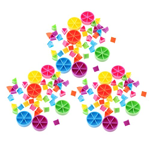 Fenteer 約126個 数学分数 ゲーム ピース ウェッジ 早期教育 子供 知的開発 おもちゃ