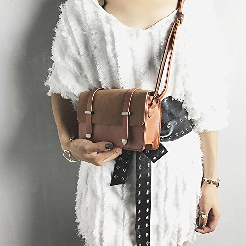 cuadrado flecha pequeño brown y bolso de mate casual doble bolso Nuevo salvaje elegante diagonal de marrón encapsulado a7vxXqCwq