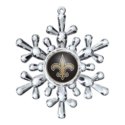 NFL New Orleans Saints Traditional Snowflake Ornament