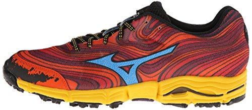 Mizuno-Mens-Wave-Kazan-Trail-Running-ShoeChinese-RedDude-BlueSpectra-Yellow125-M-US
