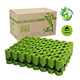 PET N PET Biodegradable Poop Bags Earth Friendly Dog Waste Bags Unscented 720 Counts with Dispenser