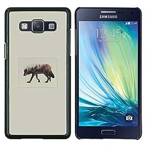 Qstar Arte & diseño plástico duro Fundas Cover Cubre Hard Case Cover para Samsung Galaxy A5 A5000 (Elk Arte)